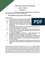 Science HW Worksheet