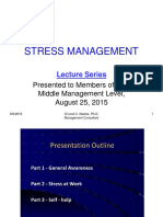 Lectures on Stress Management