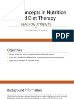 Basic Concepts in Nutrition and Diet Therapy