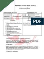 PLANEACION REPOSTERIA LICENCIATURA