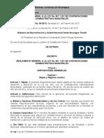 """Reglamento General a La Ley No. 801 """"Ley de Contrataciones Administrativas Municipales"""