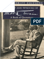 The Wit and Wisdom of Mark Twain a Book of Quotations