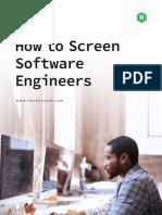 HackerRank How to Screen Software Engineers Guide