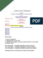CivRev.study Guide Title I to Title 5 Possession