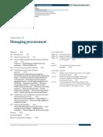 Managing Procurement