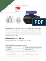 Passon ball valve