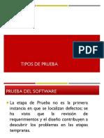 ING II 2015 Clase 8 Tipos de Pruebas