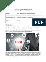 Human Resources Management Assignment
