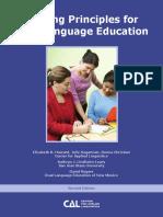 Guiding principles for bilingual education