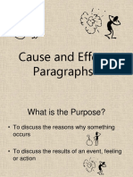 Cause and Effect Paragraphsonlineversion