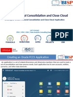 Oracle FCCS Creating New Application