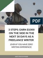 3 Steps to a Freelance Writing Business PDF