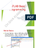 Matlab Basic Programming