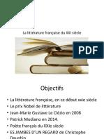La Littérature Française Du XXI Siècle
