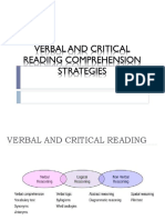 Verbal Reasoning and Critical Reading