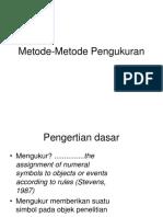 Metode-Metode Pengukuran