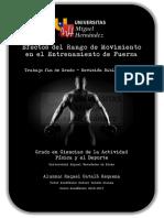 Efectos Del Rango de Movimiento en El Entrenamiento de Fuerza