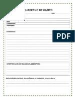 cuaderno de campo del docente