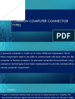 Common Computer Connector Types