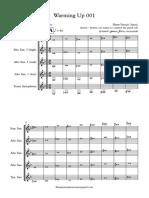 Warming Up 001, materi latihan untuk ensemble saxophone