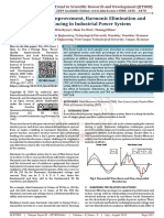 Power Quality Improvement, Harmonic Elimination and Load Balancing in Industrial Power System