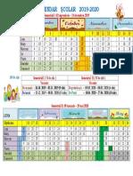 Calendarul Scolar 2019 2020