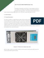 200W TEC Air Conditioner Specification