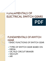 Fundamentals of Electrical Switchgears