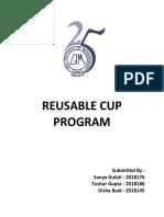 Reusable Cup Program