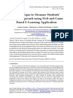 A Technique to Measure Students' Mental Approach Using Web and Game Based E-Learning Application