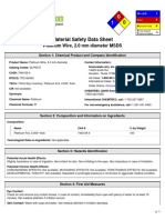 Platinum wire MSDS
