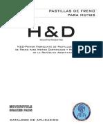 Catalogo pastillas de freno H&D MOTOS