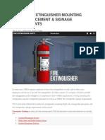 Osha Fire Extinguisher Mounting Height
