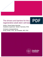 The drivers and barriers for the adoption of regenerative adult stem cell-based therapies