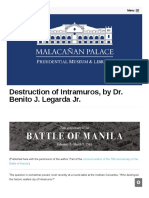 Malacanang Gov Ph 75096 Destruction of Intramuros
