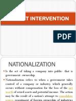 Market Intervention