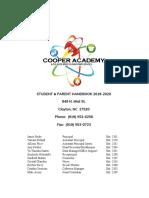 2019-2020 cooper academy student handbook