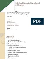 Tamil Morphological Analysis