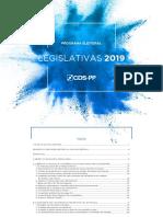 Programa Eleitoral do CDS às Legislativas 2019
