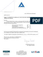 Arc Fault Test Confirmation Letter SGCVL 10.2.15