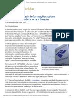 ConJur - Receita Pode Pedir Informações Sobre Escritórios a Bancos