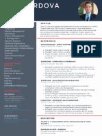 Simple Resume Model Ken Cordova Intelivate