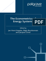 The Econometrics of Energy Systems