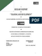 269689446-Kotak-Mahindra-TRAINING-Development.doc