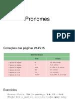 Pronomes - correções