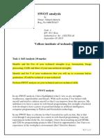 SWOT Analysis Task 1 Last