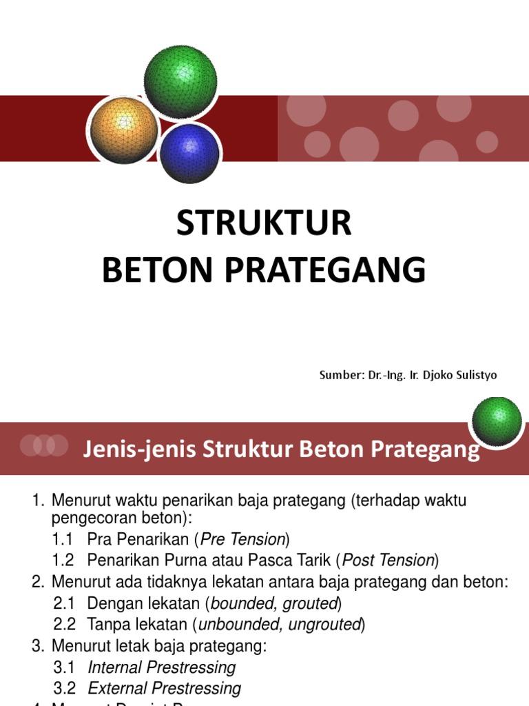 3 Beton Prategang Jenis Jenis Beton Prategang Pptx
