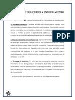 INDICADOR DE LIQUIDEZ Y ENDEUDAMIENTO