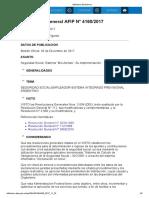 Rg 4160-17 Seguridad Social. Sistema Mis Alertas