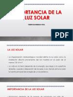 Importancia de La Luz Solar